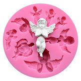 Food Grade Silicone Cake Mold DIY Chocalate Cookies Ice Tray Baking Tool Special Angel Shape