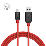 BlitzWolf® Ampcore BW-MC6 2.4A Micro USB Braided 8.2ft/2.5m Data Cable for Samsung S7 Redmi Note 4