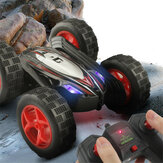 JJRC D828 1/24 2.4G 4CH RC Car Stunt Drift Deformation Tracked Rock Crawler 360 Degree Flip Kids Vehicles Indoor Toys