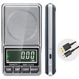 600g 0.01g LCD Elektronik Perhiasan Skala Digital Pocket Berat Mini Precision Balance USB Interface