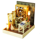 TIANYU DIY Doll House TW37 Ink Color Collection of Qingdai Creative Antiquity Scene Handmade Small House