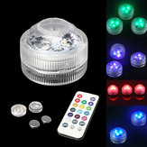 1pc / 10szt RGB LED Spot Light Underwater Swimming Pool Fountain Remote Control