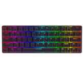 BlitzWolf® BW-KB1 63 Keys Mechanical Gaming Keyboard bluetooth Wired Keyboard Gateron Switch RGB NKRO Type-C Gaming Keyboard