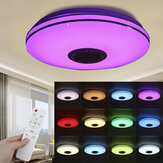34cm bluetooth WIFI APP LED Ceiling Light RGB Music Speaker Dimmable Bedroom Lamp + Remote Control 110-245V