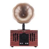Gramophone شكل لاسلكي محمول بلوتوث المتحدث الدعم بطاقة TF AUX U-Disk