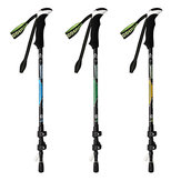 Foldable Handle Cane Retractable Stick Hiking Trekking Pole Adjustable Cane 65-135cm 3-Section