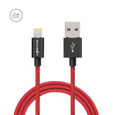 BlitzWolf® BW-MF6 2.4A Lightning to USB Braided Data Cable 6ft/1.8m for iPhone 8 Plus X 7 Plus