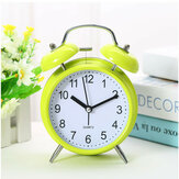 Classic Silent Double Bell Alarm Clock Concise Quartz Movement Bedside Night Light Home Decor