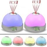 Farbwechsel Wecker Zeitprojektion LED Uhr Taschenlampe Snooze Wecker