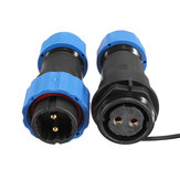 1 Pair Waterproof Aviation Connector Plug with Socket SD20-2 2 Pin IP68 F3F7 O5P3