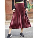 Элегантный Женское 6 цветов Бархатные плиссированные юбки