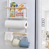 Manyetik Buzdolabı Buzdolabı Yanak Kağıdı Havlu Tutucu Depolama Raf Raf Mutfak Düzenleyici Space Saver