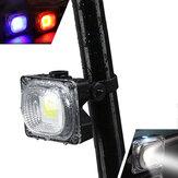 XANES TL05 500LM COB Bead White / Blue / Red Light 3 tryby Wodoodporny akumulator USB Tylne światło rowerowe