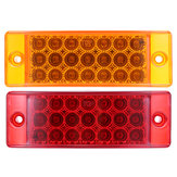 6Inch 12V 2W 0.2A 21LED Car Rectangle Side Marker Lights Indicator Lamp for Truck Trailer