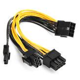 5 قطع PCI-E 8-pin إلى 2x 6 + 2-pin القوة كابل الخائن PCIE PCI Express Splitter Ribbon