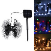 12M 100LED Solar Power Flower Lamp LED String Fairy Lights Vandtæt LED Flower Light String Solar Girlander Have Juletræspynt Lys Til Udendørs