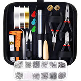 DIY Jewelry Making Supplies Kit With Tools Wires And Jewelry Findings For Jewelry Repair