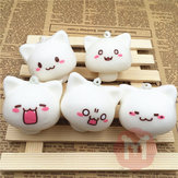 Squishy Toys Mushroom Cat Kawaii Cartoon Cute Face Decor Bag Cell Phone Straps