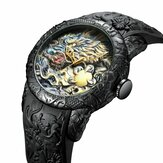 BIDEN BD129 Retro Dragon Chinese Style Men Wrist Watch Waterproof Silicone Band Quartz Watch