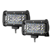 2PCS 5 Inch LED Work Light Bar Combo Beam Driving Fog Lamp 72W 6000LM for Jeep Offroad ATV Truck