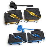Il sollevatore di mobili da 5 pezzi sposta i cursori del motore a ruote triple triple Strumenti Kit sistema di movimento mobili