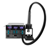 SUGON 8610DX 1000W Hot Air Rework Station LED Display Lead-free Microcomputer Temperature Adjustable with 5 Nozzle
