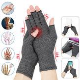 Luvas antiderrapantes para artrite de compressão para alívio da dor da artrite, osteoartrite reumatóide e túnel do carpo Luvas sem dedos para digitação e trabalho diário