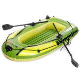 Barco de pesca inflável de duas pessoas barco de caiaque de borracha engrossada com bomba inflável ao ar livre