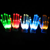 LED Flashing Ciągle Glow Light Up Finger Glove Oświetlenie Xmas Dance Party Cosplay