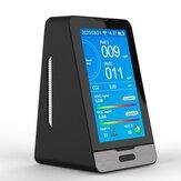 WIFI PM2.5 PM1.0 PM10 Temperatura Umidade Monitor de qualidade do ar de 4,3 polegadas LED Display Detector de gás CO2 HCHO TOVC inteligente