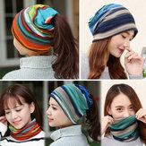 Kadın Pamuk Colorful Çok Fonksiyonlu Beanie Şapka Eşarp Kolaj