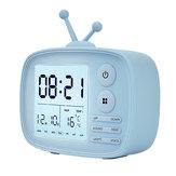 DC 5V Dijital Alarm Saat Sıcaklık Ekran Karikatür Başucu Öğrenci Arka Işık