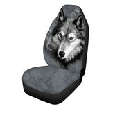 Universal Car Seat Covers Front Seat Protector Animal pattern wolf / butterfly