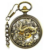 JIJIA JX025 Great Phoenix Mechanical Pocket Watch