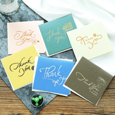 6Pcs Paper Thank You Greeting Cards Gift Decoration Card Greeting Card