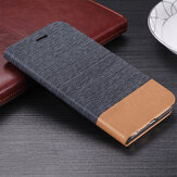 Bakeey Canvas Pattern Flip with Card Holder Stand Shockproof PU Leather Full Cover Protective Case for Xiaomi Mi10 Mi 10 Non-original