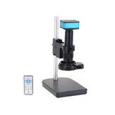 HAYEAR 4K Endüstriyel Mikroskop Kamera HDMI USB Çıkışları 180X C-mount Lens144 LED Lamba PCB Onarım için Büyük Bom Lehimleme