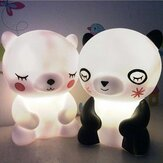 Bear Panda LED Night Light Lámpara Cute Animal Night Light para niños Habitación Mesita de noche Sala de estar Iluminación decorativa Regalo de los niños