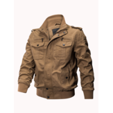 Mens Outdoor Tactical Washed Cotton Pockets Plus Ukuran Jaket Militer