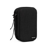 Baona Double Layer Mobile Hard Disk Storage Bag Waterproof EVA Hard Shell Protective Sleeve for 2.5 inch SSD HDD Hard Disk