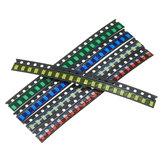 500 Stück 5 Farben 100 Stück 1206 LED Dioden-Sortiment SMD LED Diode Satz Grün / ROT / Weiß / Blau / Gelb