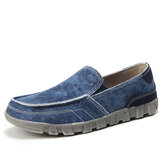 Men Canvas Breathable Soft Sole Comfy Slip On Casual Shoes