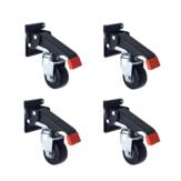 Kit de rodízios de bancada de 4 unidades de 660 libras com placas de liberação rápida Rodas retráteis para serviços pesados