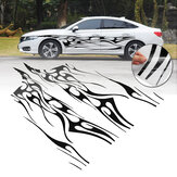 280 X 48CM 1 Pair Body Graphic Side Stickers Sports Racing Car Long Stripe Decal