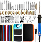 71Pcs 60W Pen Pyrography Solder Iron Tool Kit Set Adjustable Wood Burning Carving Embossing Tool