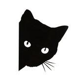 12x14.5cm Gato Face Peering Coche Stickers Decals Gato Sticker decorativo