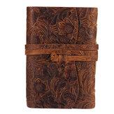 Grueso Piel Genuina Libro de diario 400 páginas Cuaderno de papel en blanco Bloc de notas Kraft Regalo Escuela Suministros de oficina 165 mm * 115 mm * 40 mm