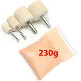 Parlatma Kit 230g Serium Oksit Parlatma Tozu, 4 Adet Parlatma Tekerleği