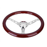15 Inch Universal Dteering Wheel Car Modified Retro Mahogany Color Steering Wheel Suitable For Volkswagen Transporter T3 T25