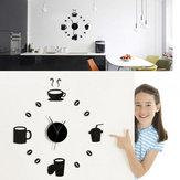 Honana DX-X3 Yaratıcı 3D Akrilik Ayna Duvar Stickeri Kuvarslı Saatler Büyük Ev Dekorasyonunu İzle
